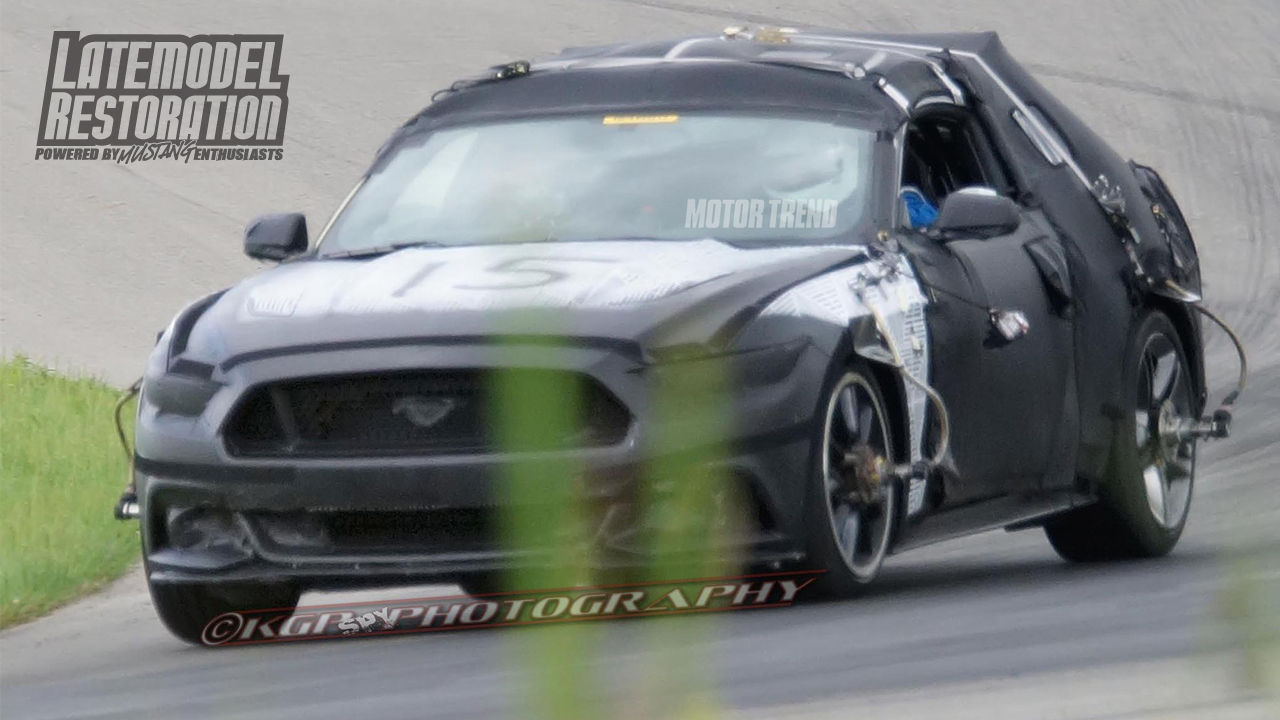 2015 Mustang Loses Some Camouflage  - 2015 Mustang Spy Photos