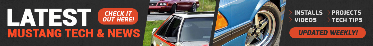 1979-1993 Mustang Tech & News - Fox Body Mustang Tech News