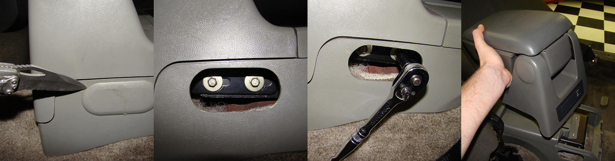 Mustang Console Armrest Delete Install - mustang console armrest delete