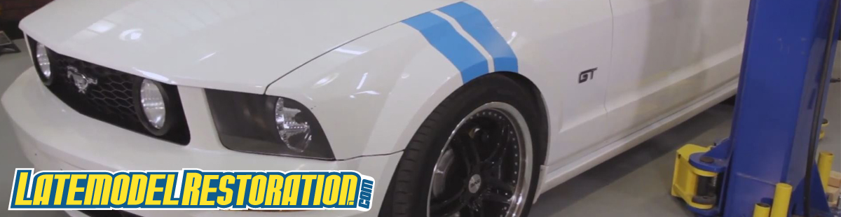 How To Install Mustang Fender Hash Mark Decals - Mustang Fender Stripe Installat