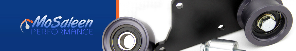 Reduce Mustang Supercharger Belt Slippage: Mosaleen Idler Pulley Kit - Mosaleen supercharger idler kit