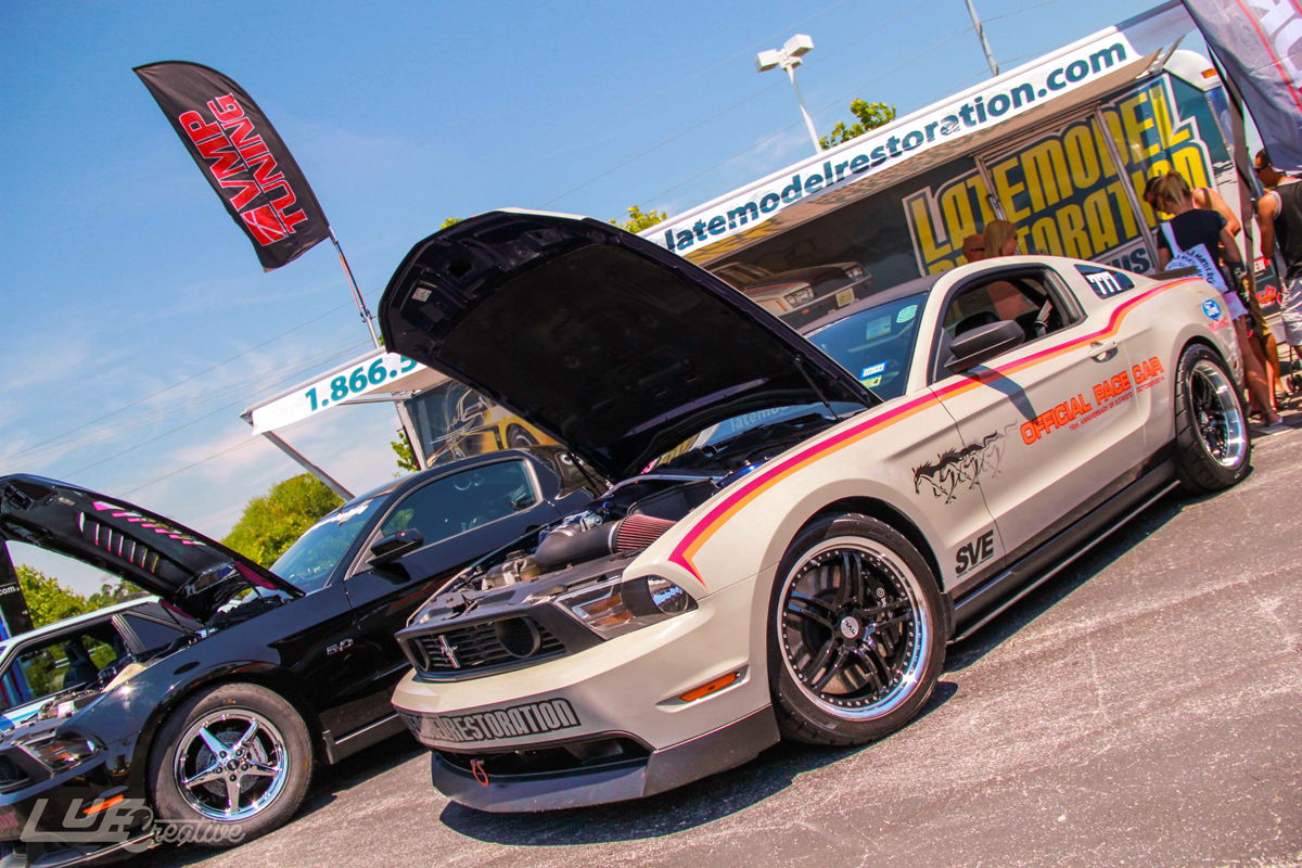 SVE Pace Car & Project Blue Collar Visit Mustang Week - SVE Pace Car Mustang Week 2014