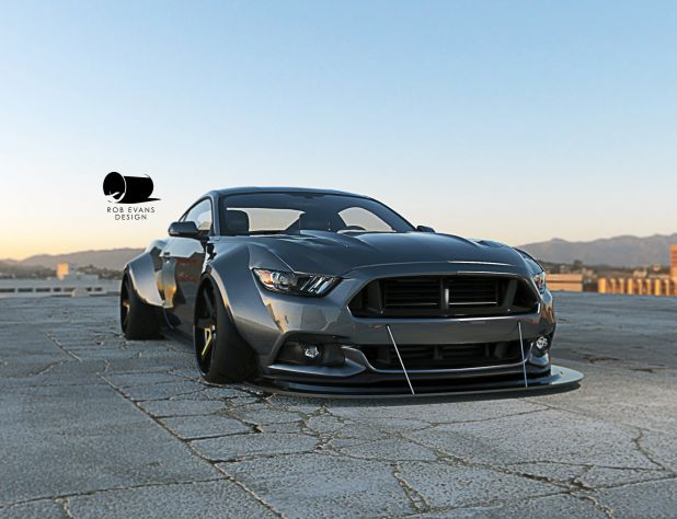 Wide Body 2015 Mustang Renderings – S550 - 2015 Mustang Wide Body Rendering
